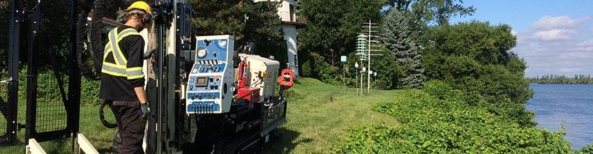 Service de forage environnemental